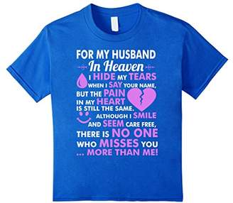 For My Husband In Heaven Miss You More Than Me TShirt