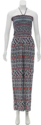 Tory Burch Strapless Printed Jumpsuit