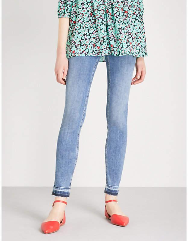 Probin released-hem skinny high-rise jeans