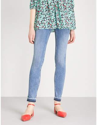 Maje Probin released-hem skinny high-rise jeans