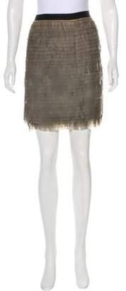Jason Wu Fringed Silk Skirt