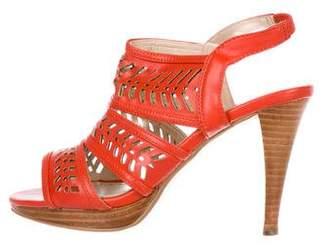 Adrienne Vittadini Laser Cut Slingback Sandals