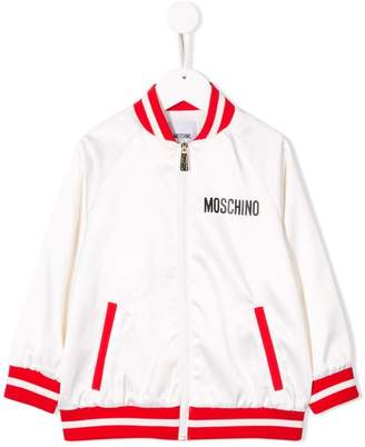 Moschino Kids contrast bomber jacket