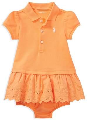 Ralph Lauren Girls' Eyelet Polo Dress - Baby