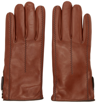 Giorgio Armani Brown Lambskin Gloves