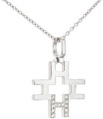 India Hicks Love Letters in Silver with Diamonds - H - Oprah's Favorite Thing
