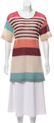 Missoni Striped Open Knit Tunic