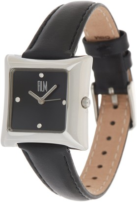 Robert Lee Morris Rlm Jewelry By RLM Square Leather Strap Watch