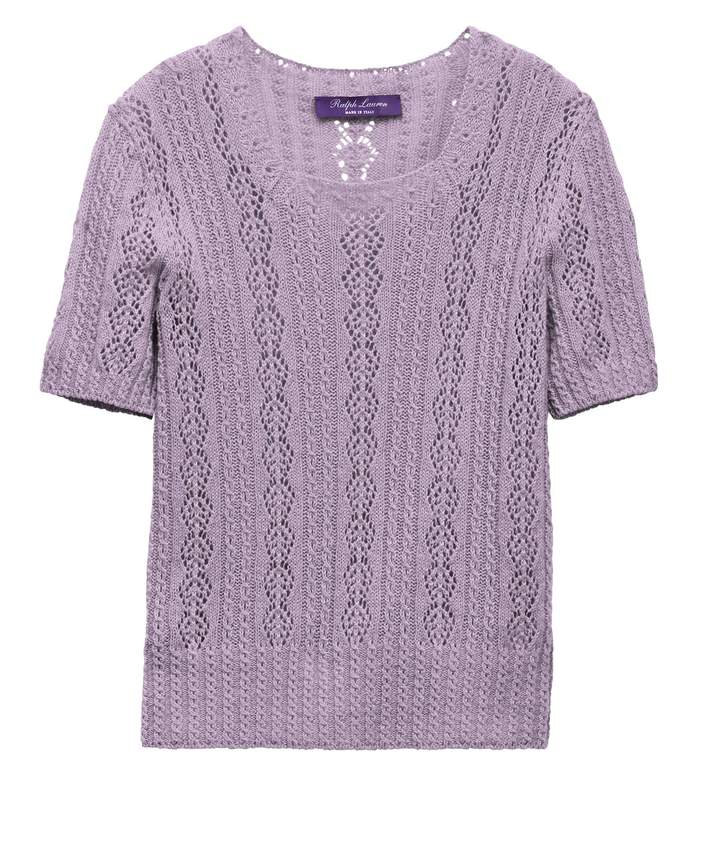 Pointelle Cashmere Sweater