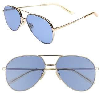 Gucci 59mm Aviator Sunglasses
