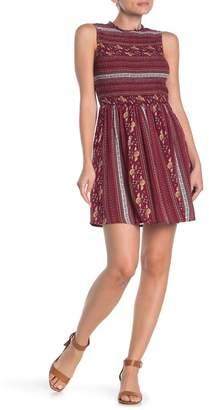 BeBop Sleeveless Printed Mock Neck Dress