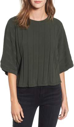 ALL IN FAVOR Dolman Sleeve Rib Top
