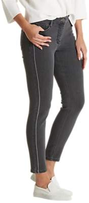 Slim Fit Stripe Jeans, Dark Grey