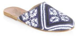 Ancient Greek Sandals Bandana-Print Flat Mules