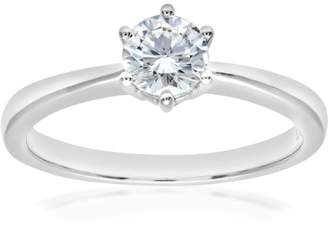 N. Naava GIA Certified Diamond 18ct White Gold Solitaire Engagement Ring - Size PR07687W-G041EVS2