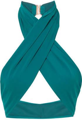 Fella - Dylan Halterneck Bikini Top - Emerald