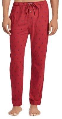 Ralph Lauren Pony-Print Cotton Pajama Pants