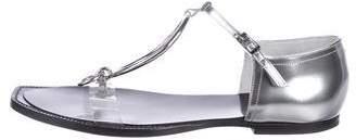 Maison Margiela Metallic Leather Ankle Strap Sandals