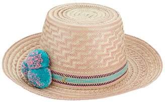 Yosuzi Pom Pom Straw Hat