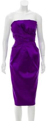 Philosophy di Alberta Ferretti Strapless Silk Dress