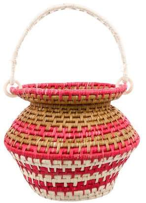 Sensi Studio 2018 Sculptured Toquilla-Straw Basket Bag