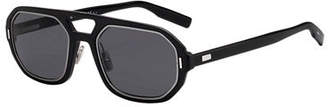 Christian Dior Men's Octagonal Metal-Trim Sunglasses