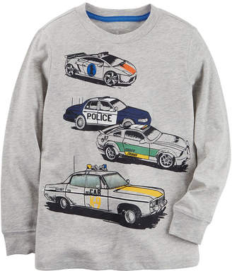 Carter's Car Graphic Long Sleeve T-Shirt-Preschool Boys