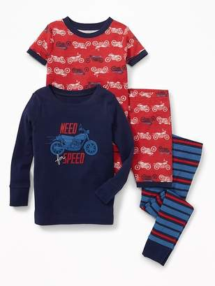 """Old Navy """"Need For Speed"""" Motorcycle 4-Piece Sleep Set for Toddler & Baby"""