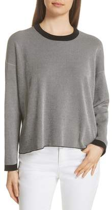 Eileen Fisher Ringer Crewneck Stripe Top