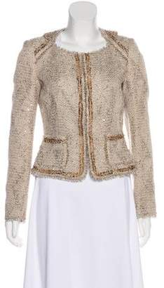 Les Copains Embellished Tweed Jacket