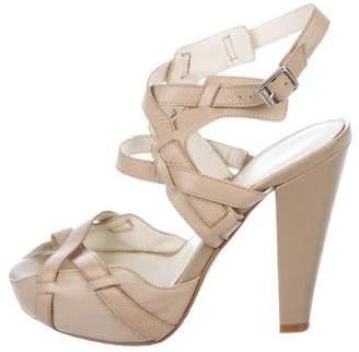 Calvin Klein Leather Platform Sandals