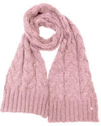 Cable-Knit Gloves Peach Whip