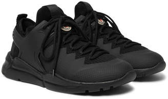 Moncler Sportif Mesh, Rubber and Nubuck Sneakers