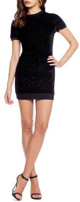 Dress the Population Cosmo x Malorie Sparkle Knit Body-Con Minidress