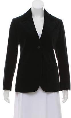 Celine Velvet Peak-Lapel Jacket