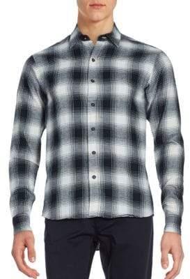 Raleigh Denim Plaid Cotton Shirt