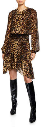 A.L.C. Sidney Leopard-Print Asymmetrical Dress