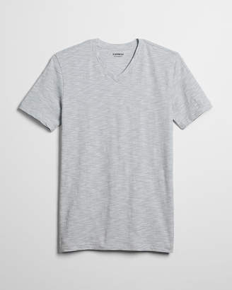 Express Space Dyed Stretch V-Neck Tee