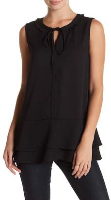 Pleione Sleeveless Ruffle Tunic Blouse $54 thestylecure.com