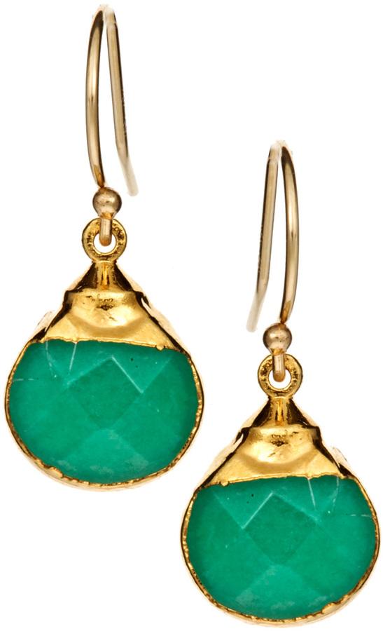 Janna Conner Designs Aqua Jade Drop Earrings