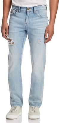 True Religion Geno Slim Straight Fit Jeans in Jet Smoke