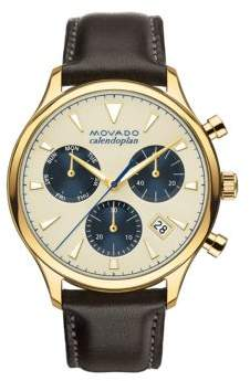 Movado Heritage Gold Ion-Plated Stainless Steel Watch