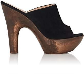 Gianvito Rossi Women's Suede Platform Mules