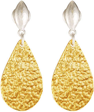 Gurhan Pear Flake & Wheat Post Earrings