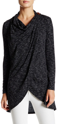 Bobeau One-Button Wrap Cardigan $58 thestylecure.com