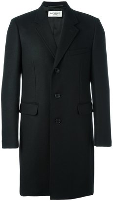 Saint Laurent classic Chesterfield coat $2,990 thestylecure.com