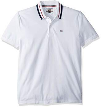 Tommy Hilfiger Tommy Jeans Men's Polo Shirt Classics Collection White