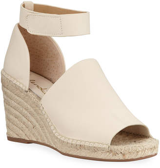Splendid Skylar Leather Ankle-Strap Espadrilles