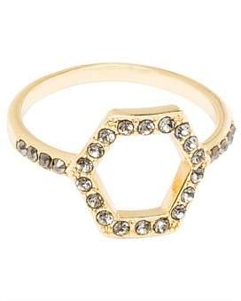 Rebecca Minkoff Hexagon Open Back Ring