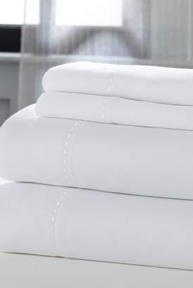 COLONIAL HOME TEXTILES California King Sheets - 4 Piece Set - White